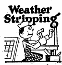 weather strip - a narrow strip of material to cover the joint of a door or window to exclude the cold
