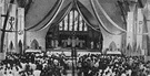 chapel - a service conducted in a place of worship that has its own altar