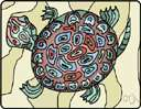 turtle - any of various aquatic and land reptiles having a bony shell and flipper-like limbs for swimming