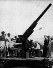 pom-pom - artillery designed to shoot upward at airplanes
