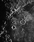 lunar crater - a crater on the Earth's Moon