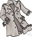 trench coat - a military style raincoat