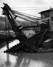 dredger - a barge (or a vessel resembling a barge) that is used for dredging