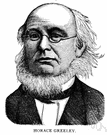 Greeley - United States journalist with political ambitions (1811-1872)