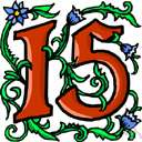 15th - coming next after the fourteenth and just before the sixteenth in position