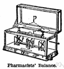 chemical balance - a beam balance of great precision used in quantitative chemical analysis