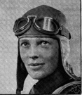 Amelia Earhart - first woman aviator to fly solo nonstop across the Atlantic (1928)