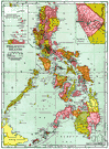 Philippine Islands - an archipelago in the southwestern Pacific including some 7000 islands