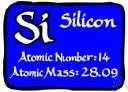 atomic number 14 - a tetravalent nonmetallic element