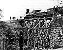 trestle - a supporting tower used to support a bridge