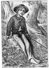 Tom Sawyer - the boy hero of a novel by Mark Twain