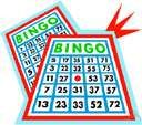 bingo - a game in which numbered balls are drawn at random and players cover the corresponding numbers on their cards