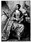 marquise - a noblewoman ranking below a duchess and above a countess