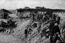 quarrying - the extraction of building stone or slate from an open surface quarry