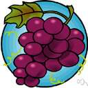 grape - any of various juicy fruit of the genus Vitis with green or purple skins