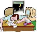 workaholic - person with a compulsive need to work