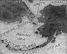 Aleutian Islands - an archipelago in the North Pacific extending southwest from Alaska