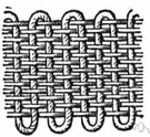 plain weave - a basic style of weave in which the weft and warp threads intertwine alternately to produce a checkerboard effect