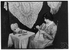 lacework - work consisting of (or resembling) lace fabric