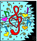 music - an artistic form of auditory communication incorporating instrumental or vocal tones in a structured and continuous manner