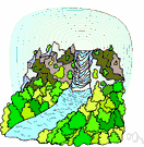 brook - a natural stream of water smaller than a river (and often a tributary of a river)