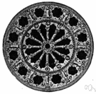 rose window - circular window filled with tracery
