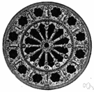 rosette - circular window filled with tracery