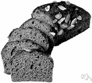 nut bread - bread containing chopped nuts