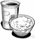 curd - a coagulated liquid resembling milk curd