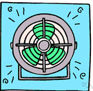 fan blade - blade of a rotating fan