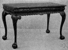 pier table - a low table set below a pier glass