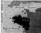 English Channel - an arm of the Atlantic Ocean that forms a channel between France and Britain