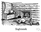 inglenook - a corner by a fireplace
