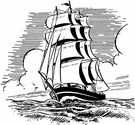 clipper - a fast sailing ship used in former times