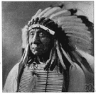 Red Cloud - leader of the Oglala who resisted the development of a trail through Wyoming and Montana by the United States government (1822-1909)