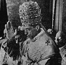 Eugenio Pacelli - pope who maintained neutrality during World War II and was later criticized for not aiding the Jews who were persecuted by Hitler (1876-1958)