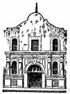 alamo - a siege and massacre at a mission in San Antonio in 1836