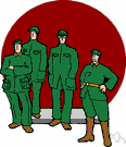 military - the military forces of a nation