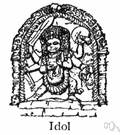 idol worship - the worship of idols