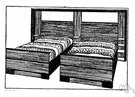 twin bed - one of a pair of identical beds