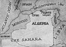 Algerie - a republic in northwestern Africa on the Mediterranean Sea with a population that is predominantly Sunni Muslim