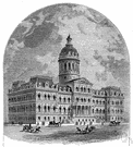 city hall - a building that houses administrative offices of a municipal government