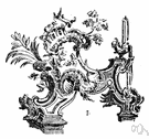 rococo - fanciful but graceful asymmetric ornamentation in art and architecture that originated in France in the 18th century