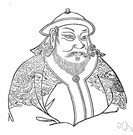 Kublai Khan - Mongolian emperor of China and grandson of Genghis Khan who completed his grandfather's conquest of China