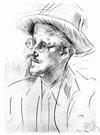 James Joyce - influential Irish writer noted for his many innovations (such as stream of consciousness writing) (1882-1941)