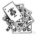 trump card - a playing card in the suit that has been declared trumps