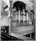 organ loft - a gallery occupied by a church organ