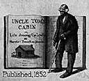 Uncle Tom - a servile black character in a novel by Harriet Beecher Stowe