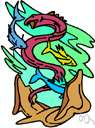 sea serpent - huge creature of the sea resembling a snake or dragon