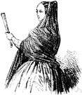 mantilla - short cape worn by women